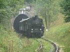 Parojazdu zabezpečoval rušeň 331.037 + 4 Ci/Ce + 1 DF z  KPHŽD Bratislava, práve vychádza z tunela M.R.Štefánika na Myjavskej strane